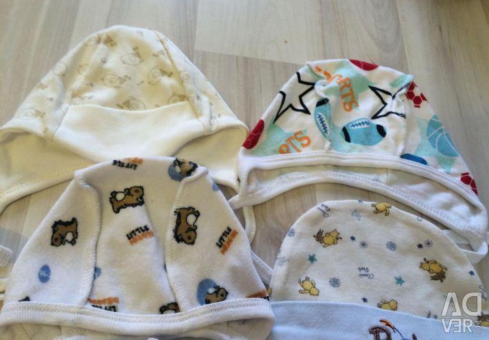 Шапочки на новорождeнного
