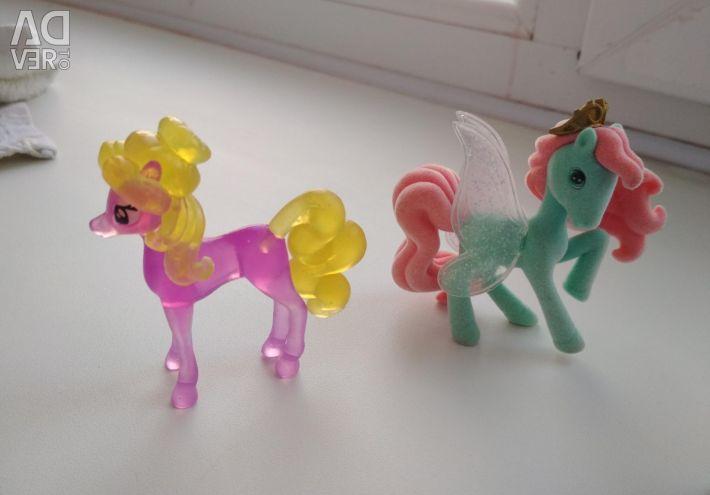 Set of three horses
