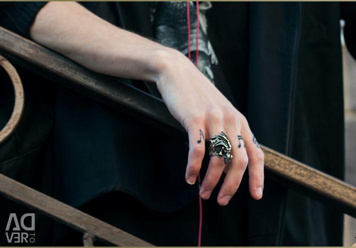 Δαχτυλίδι wyvern μεγάλο δαχτυλίδι κοσμήματος