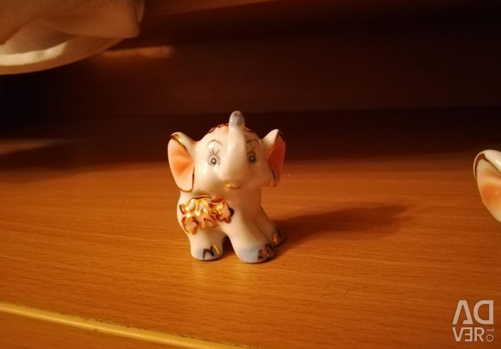 Elephant figurines.