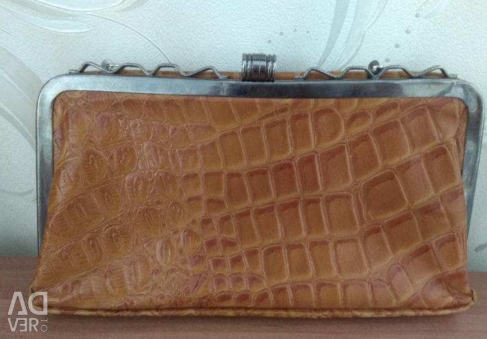 Τσάντα τσάντα Klach γνήσιο δέρμα