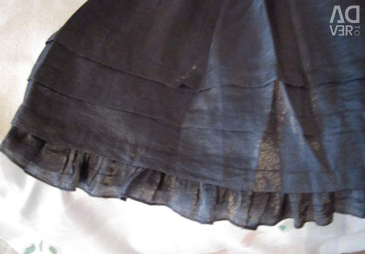 Light silver skirt