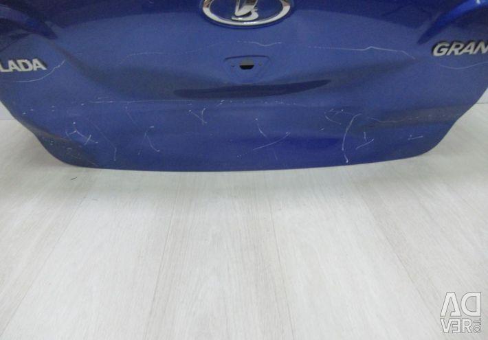 The trunk lid Lada Granta sedan oem 21900560401077 (dent) (skl-3)