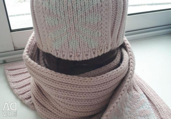 % 100 atkı yünlü şapka (yeni)