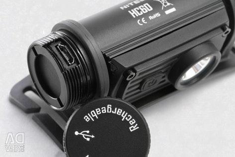 Headlamp NiteCore HC60 1000 lumens.