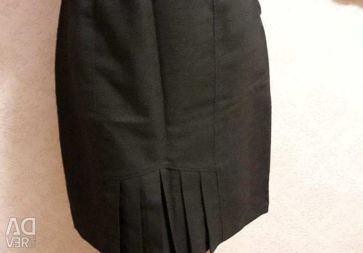 Φούστα με πτυχή. Μέγεθος 46-48