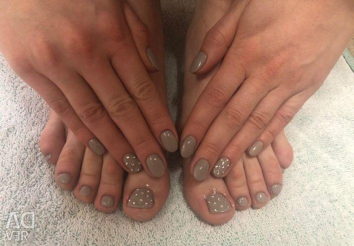 Manicure and shilak