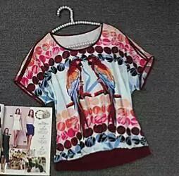 Блузка з папугами нова