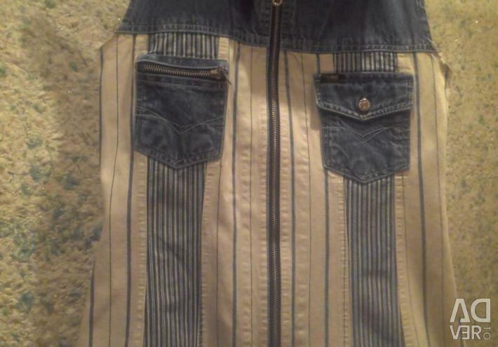 Denim vest in excellent condition.