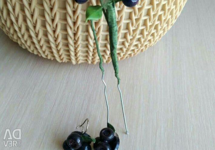 Сережки. Шпилька. для нареченої