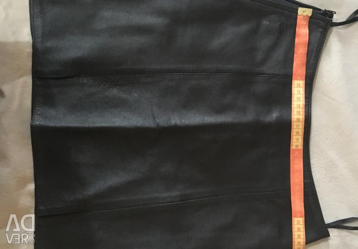 Leather skirt (genuine leather)