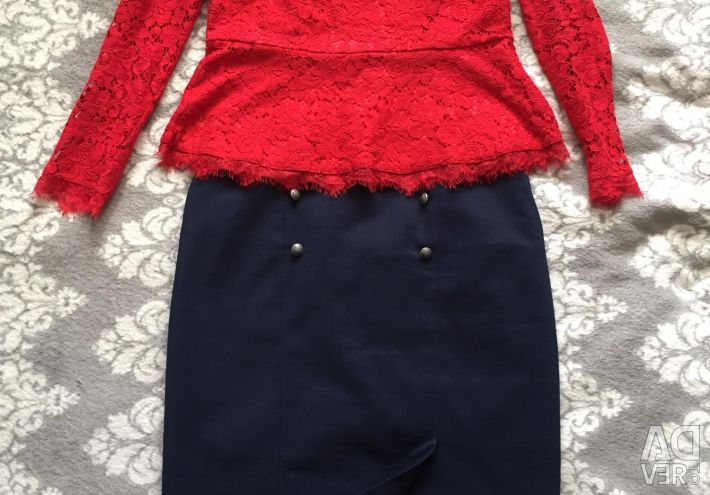 Skirt and blouse size 46