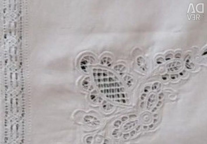 Linen tablecloth 220 by 145 cm (openwork). New