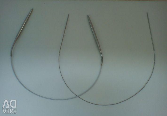 43 cm μεταλλικές κυκλικές βελόνες πλεξίματος