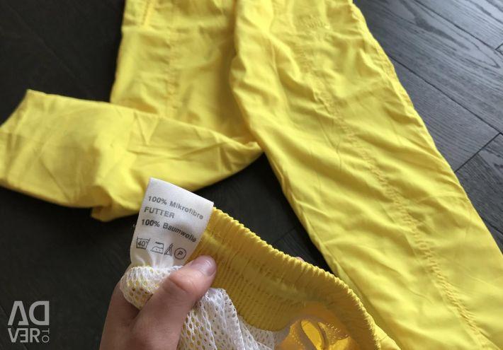 Mikrofiber takım elbise yeni sarı dik vintage