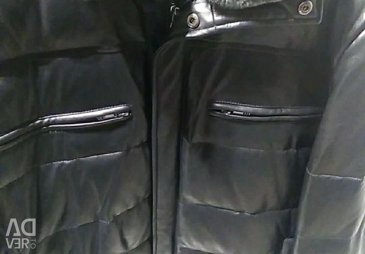 Куртка шкіряна чоловік. (ЗИМА)