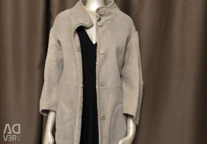 Δερμάτινο παλτό για τις γυναίκες Yves Salomon