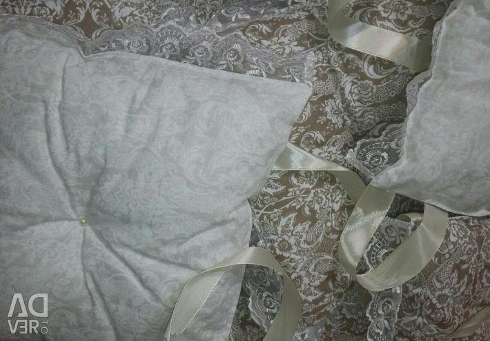 Бортики-подушечки с рюшью