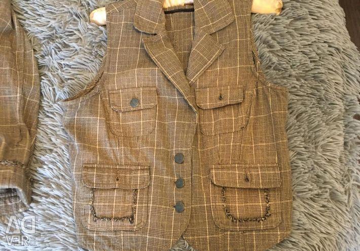 Jacket and waistcoat