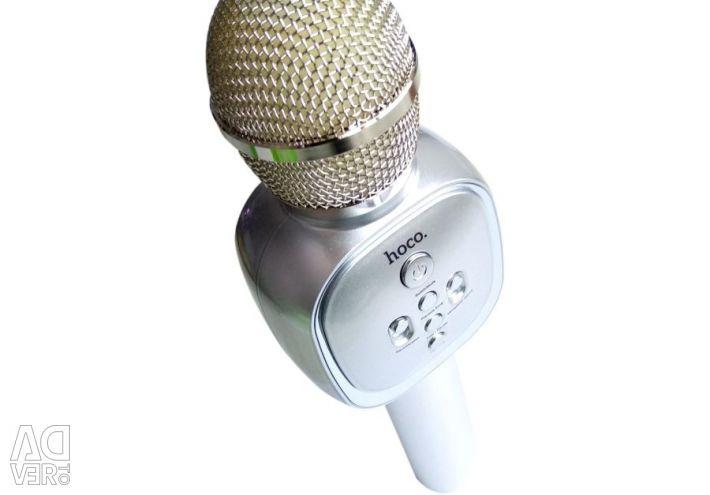 Microfon cu microfon pentru karaoke Hoco BK4 Silver