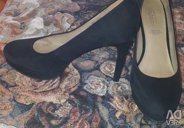 Pantofi din piele (natur.nubuk) 38r-p
