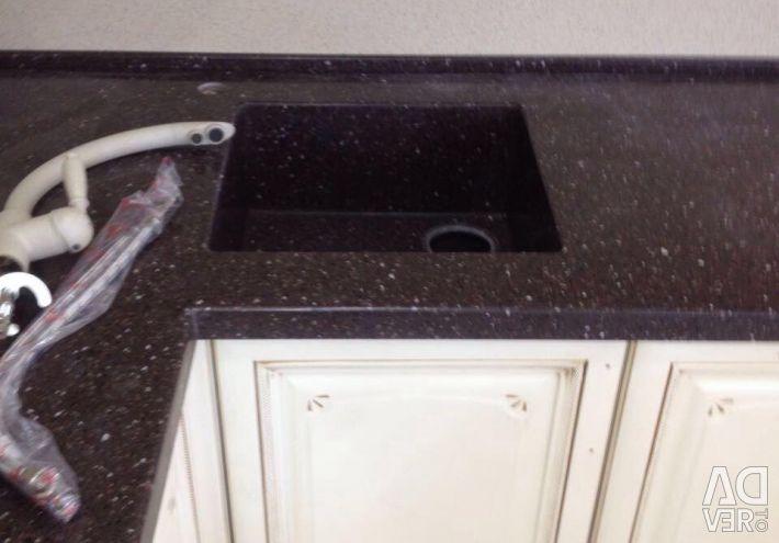 Kitchen worktop art. stone with sink