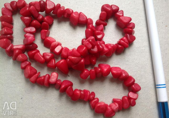 Beads red USSR