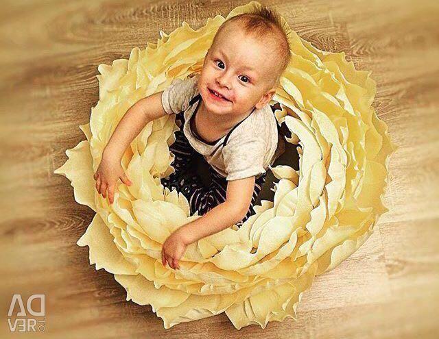 Bir fotoğraf çekimi için büyük bir peonies ve lahana