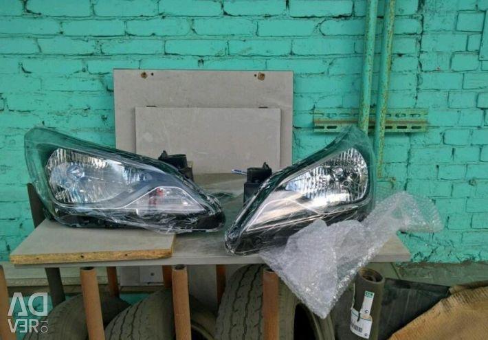 Front left headlight Hyundai Solaris