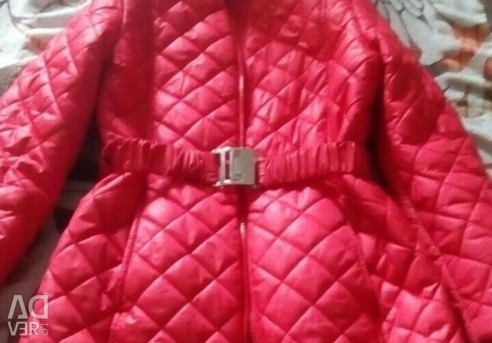 Coat quilted for girls