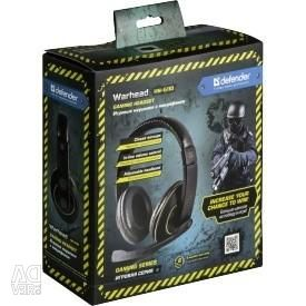 Defender headset with headphones