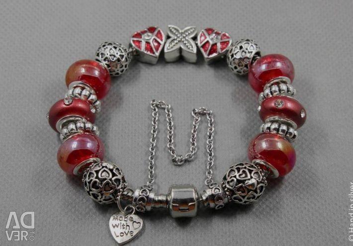 Bracelet in the style of Pandora 0999