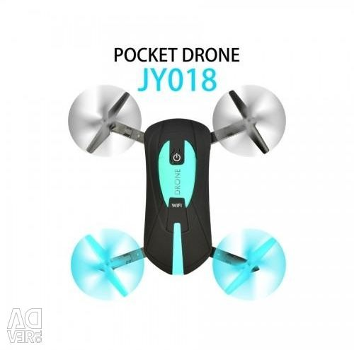 Folding drone quadrocopter POCKET DRONE JY018