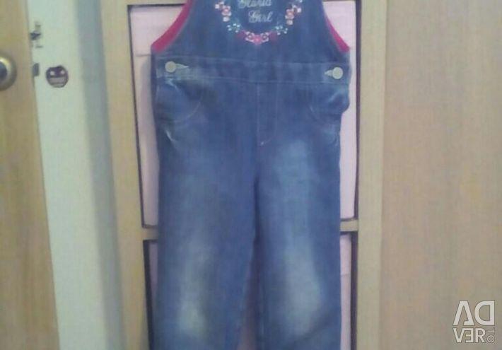 Overalls for fleece for girls