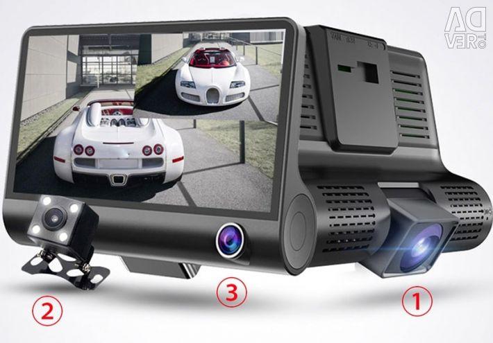 Відеореєстратор з 3-ма камерами E-ACE