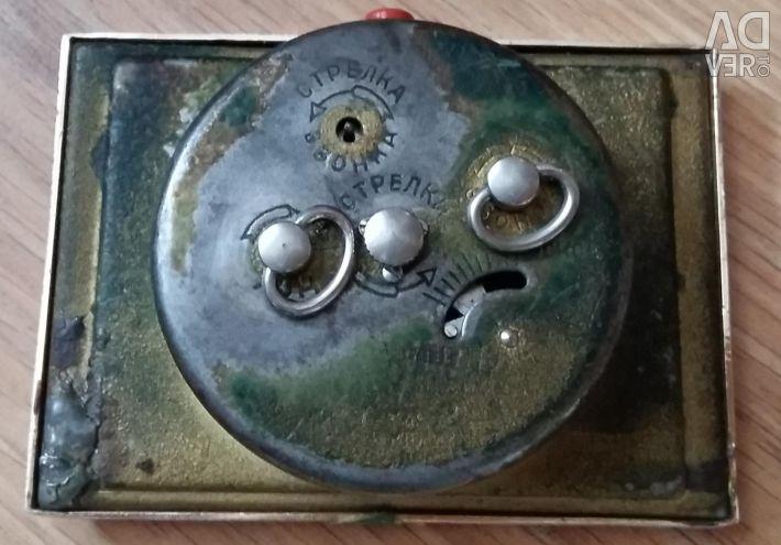 Desktop clock with alarm clock Pioneer USSR 1960