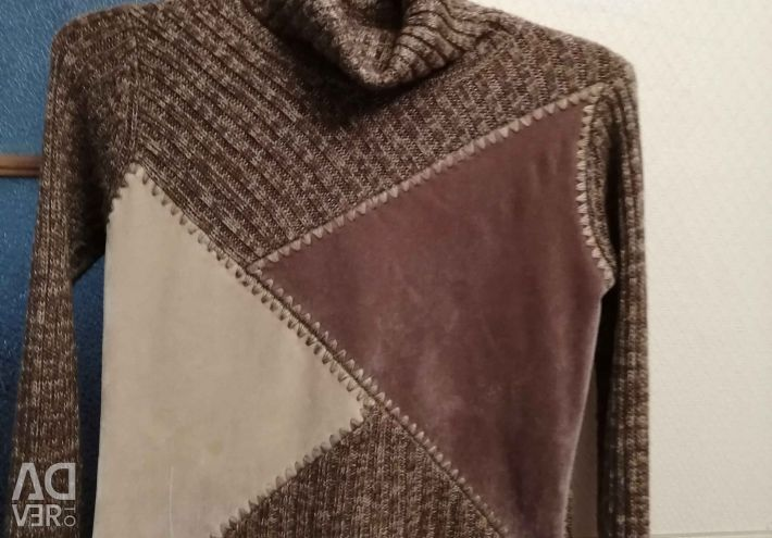 Suede Sweater