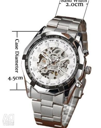 New in PU mechanical watch with automatic winding