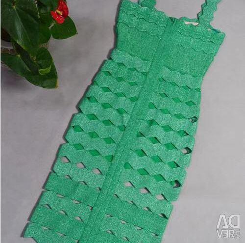 Φόρεμα φόρεμα Herve Leger σμαράγδι