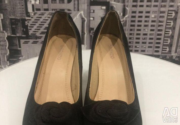 Pantofi din piele neagră