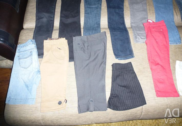 Pants, jeans, breeches, skirts for the girl