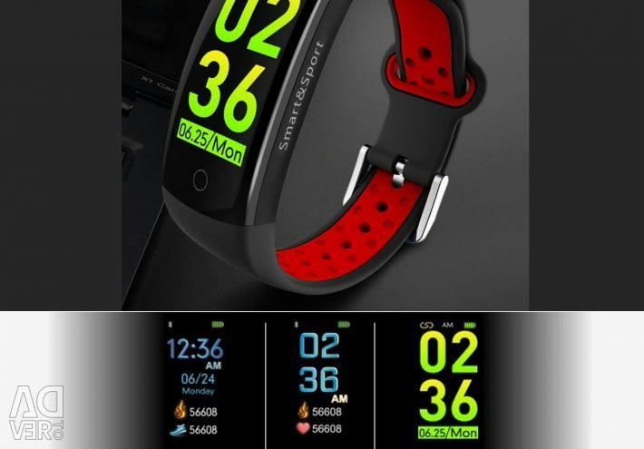 🔥 Smart Bracelet ceas Q6S Roșu IP68 3D Nou