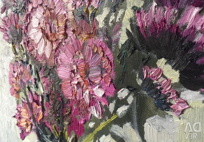 Полотно Картина живопис олією «Рожевий букет»