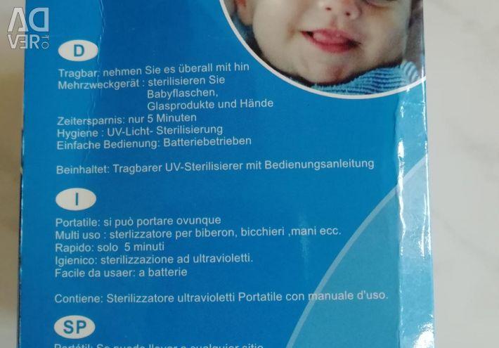 Taşınabilir ultraviyole sterilizatör.