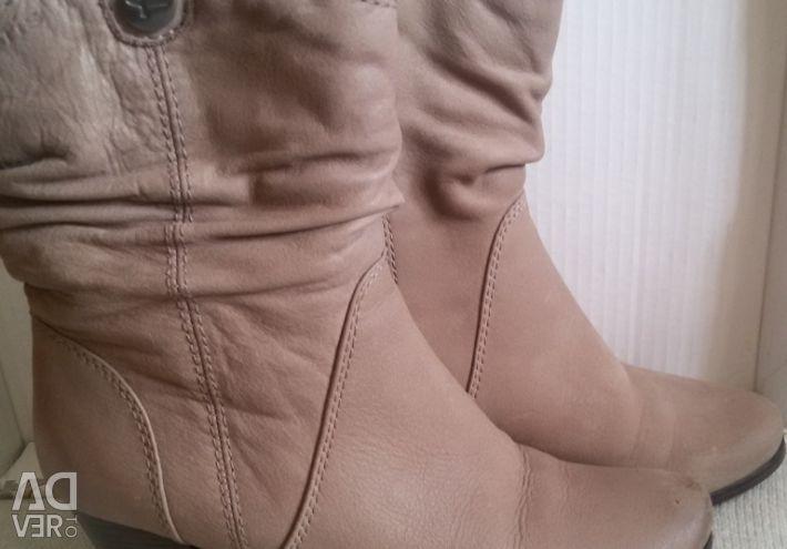 Χειμερινές μπότες αστράγαλο, γνήσιο δέρμα, r-37 (38)