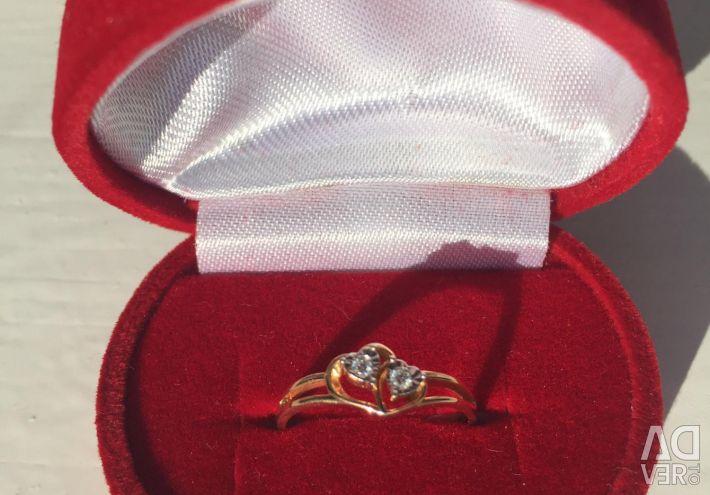 💍Ring (aur + aur alb + diamante)