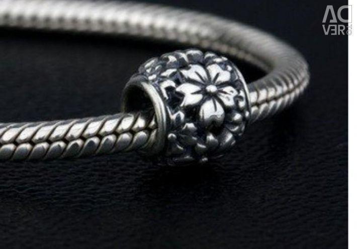 Шарм OHMbeads серебро для pandora trollbeads