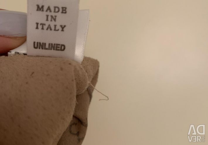 Gloves Italy / leather / new / beige