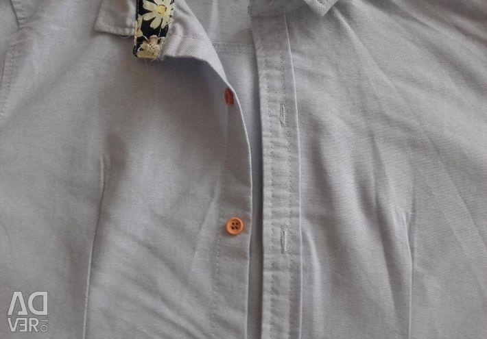 Νέο πουκάμισο 44 κοντό μανίκι