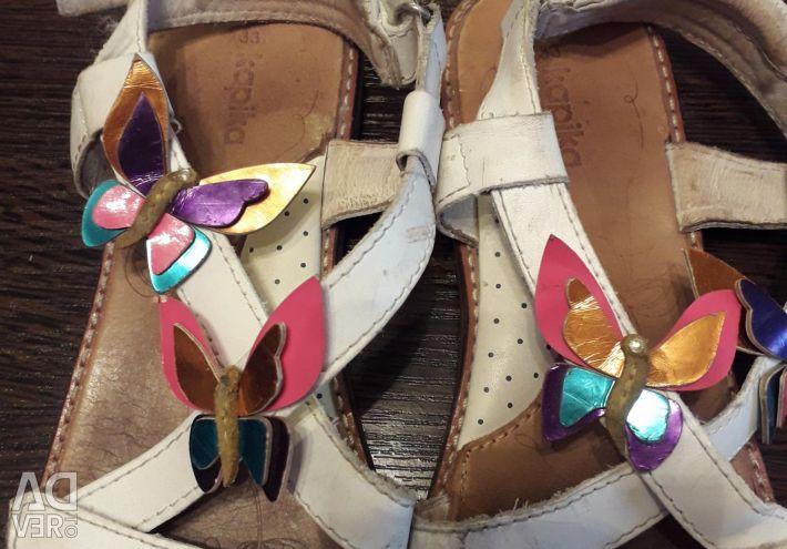 Sandals Kapika genuine leather 33r